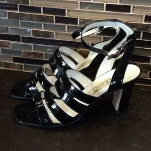 Paloma patent leather strappy heels